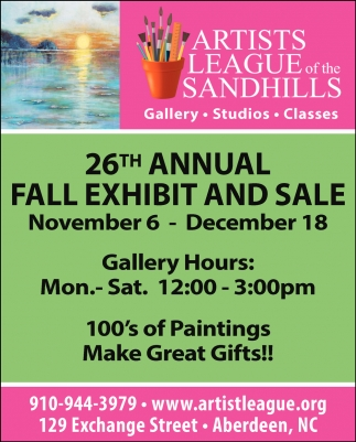 26th Annual Fall Exhibit & Sale