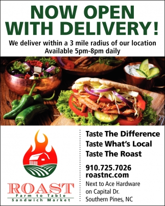 Now Open With Delivery!