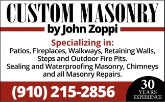 Patios, Fireplaces, Walkways, Retaining Walls.