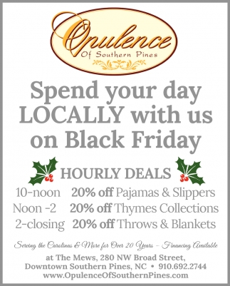 Spend Your Day Locally With Us On Black Friday