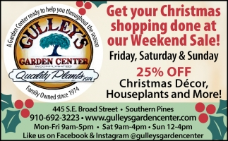 Get Your Christmas Shopping Done At Our Weekend Sale!