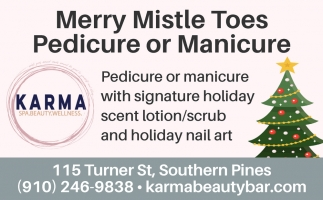 Merry Mistle Toes Pedicure Or Manicure