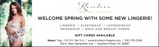 Welcome Spring With Some New Lingerie!