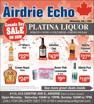 Canada Day Sale On Now