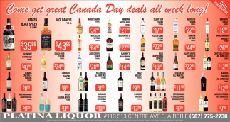 Come Get Great Canada Day Deals All Week Long!