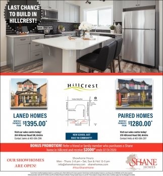 Last Chance to Build in Hillcrest!