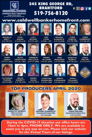 Top Producers April 2020
