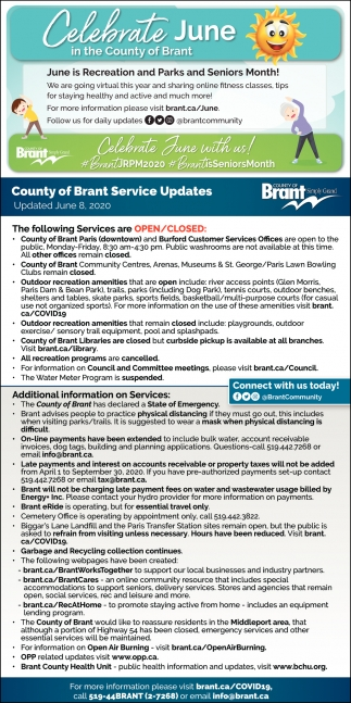 Celebrate June In the County of Brant