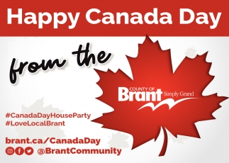 Happy Canada Day from the County of Brant