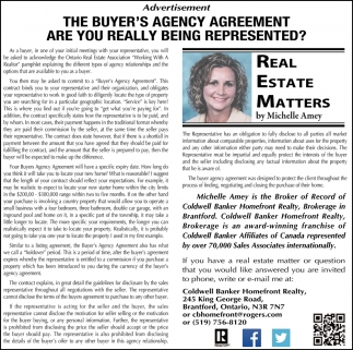 The Buyer's Agency Agreement are You Really Being Represented?