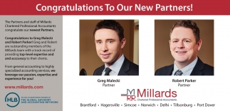 Congratulations to Our New Partners!