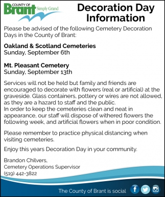 Decoration Day Information