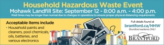 Household Hazardous Waste Event