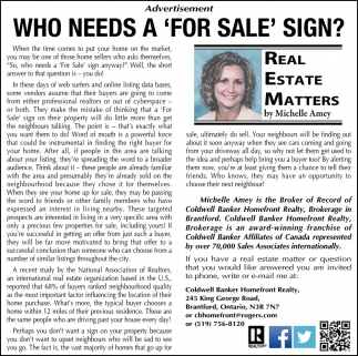 Who Needs a 'For Sale' Sign?