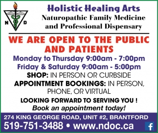We are Open to the Public and Patients