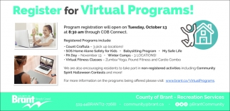Register for Virtual Programs!
