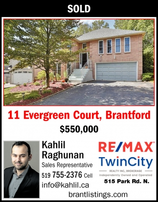11 Evergreen Court, Brantford