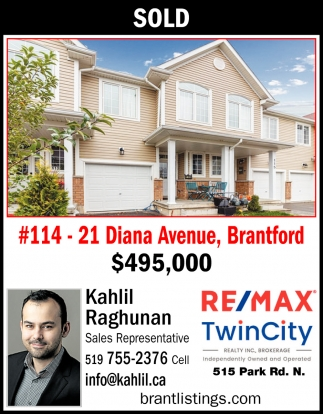 #114 - 21 Diana Avenue, Brantford