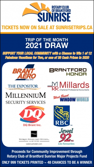 Trip of the Month 2021 Draw
