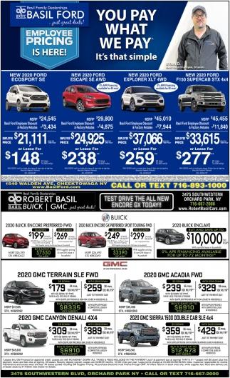 Warsaw Buick Gmc >> You Pay What We Pay, Basil Ford & Robert Basil Buick GMC, Buffalo, NY