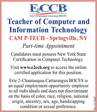 Teacher of Computer and Information Technology Cam P-Tech