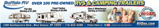 Over 100 Pre-Owned RVs & Camping Trailers