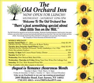 Now Open for Lunch!