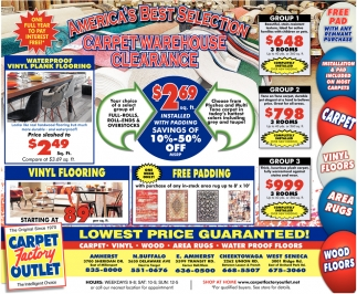 Carpet Warehouse Clearance