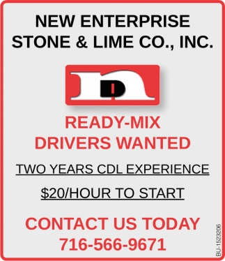 Ready-Mix Drivers Wanted