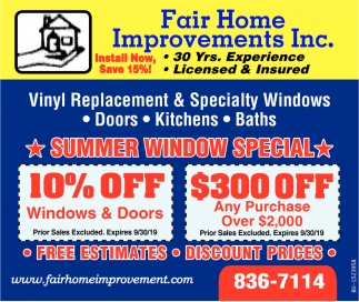 Summer Window Special
