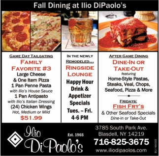Fall Dining at Ilio DiPaolo's