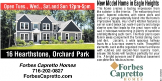 New Model Home in Eagle Heights