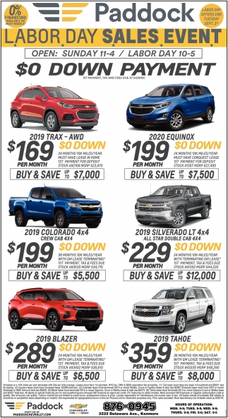 Labor Day Sales Event