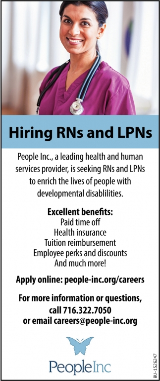 Hiring RNs and LPNs