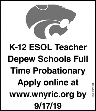 K-12 ESOL Teacher
