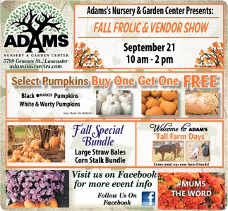 Fall Frolic & Vendor Show