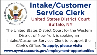 Intake/Customer Service Clerk