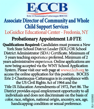 Associate Director of Community & Whole Child Support Services