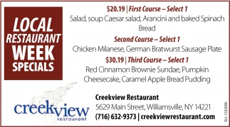 Local Restaurant Week Specials