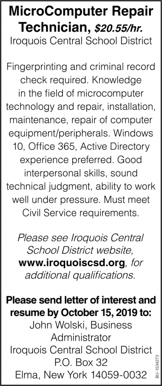 MicroComputer Repair Technician