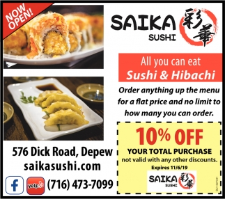 All You Can Eat Sushi & Hibachi