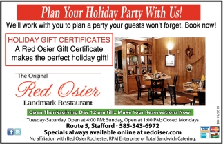 Plan Your Holiday Party with Us!