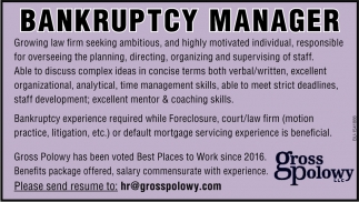 Bankruptcy Manager