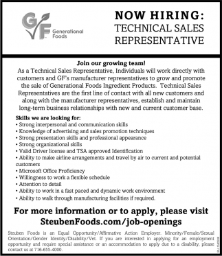 Technical Sales Representative