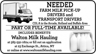Part or Full-Time Available!