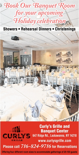 Book Our Banquet Room for Your Upcoming Holiday Celebration