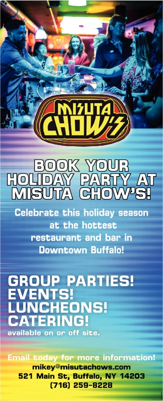 Book Your Holiday Party at Misuta Chow's!