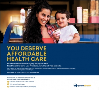 You Deserve Affordable Health Care