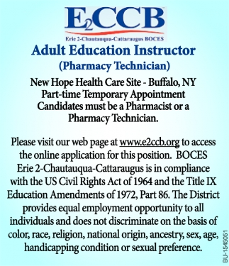Adult Education Instructor