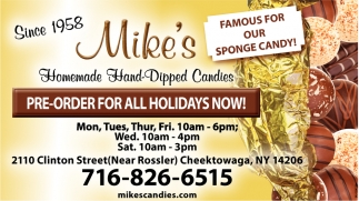 Famous for Sponge Candy!